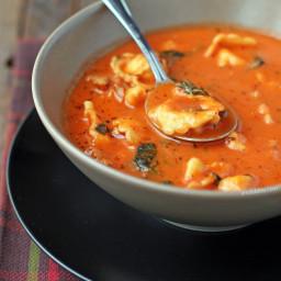 Sausage and Tortellini Tomato Soup