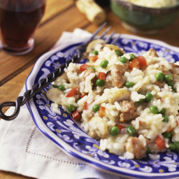 Sausage and Vegetable Risotto is a Nice Twist on the Classic Recipe