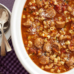 Sausage, Bean and Pasta Stew