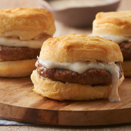 Sausage Biscuit Sandwiches with Gravy