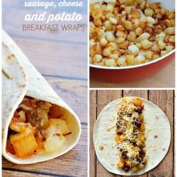 Sausage, Cheese and Potato Breakfast Wraps
