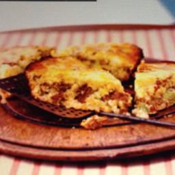 Sausage Cornbread Bake