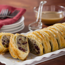 Sausage, Cranberries and Stuffing Pastry