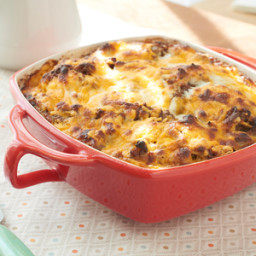 Sausage, Egg and Biscuits Casserole