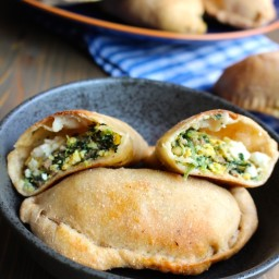 Sausage, Egg, and Spinach Breakfast Calzones
