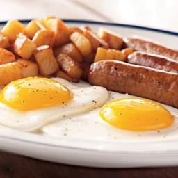 Sausage, Eggs and Hash