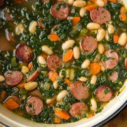 Sausage, Kale, & Cannellini Bean Soup