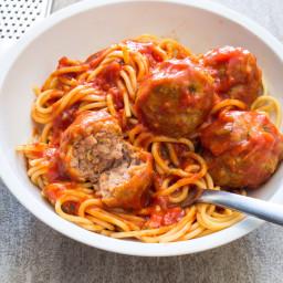Sausage Meatballs and Spaghetti