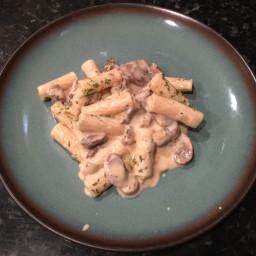 Sausage Mushroom Alfredo Pasta by LMB