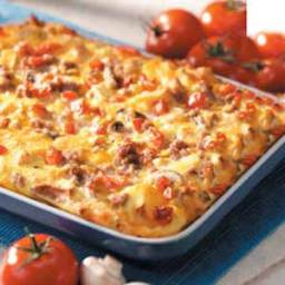 Sausage-Mushroom Breakfast Bake Recipe