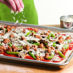 Sausage, Pepper and Mushroom Pizza