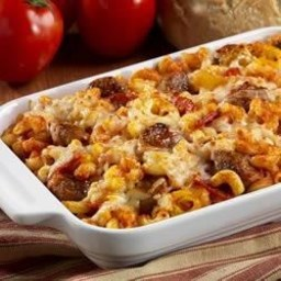 Sausage Pizza Bake
