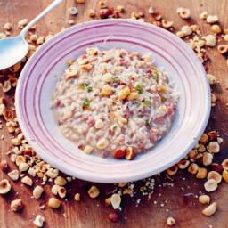 Sausage & red wine risotto