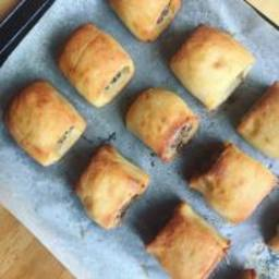 Sausage Rolls with Potato Pastry