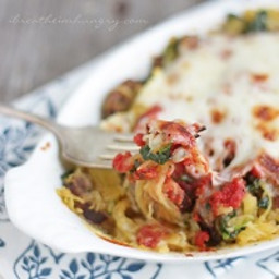 Sausage, Spinach and Spaghetti Squash Bake – Low Carb and Gluten Free