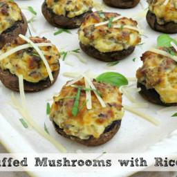 Sausage Stuffed Mushrooms with Ricotta Cheese