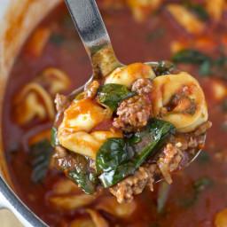 Sausage Tomato Tortellini Soup