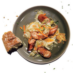 Sausage With Tangy Caraway Cabbage