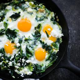 Sautéed Dandelion Greens with Eggs