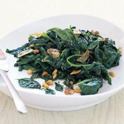 Sautéed Spinach with Basil