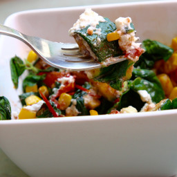 Sautéed Vegetables with Ricotta