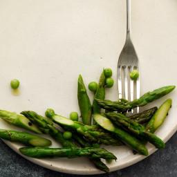 Sauteed Asparagus and Peas