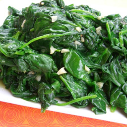 Sauteed Baby Spinach and Garlic