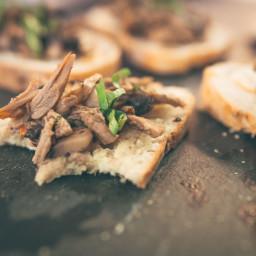 Sauteed Duck & Mushroom Tartine