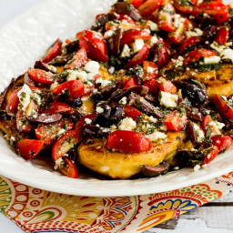 Sauteed Greek Chicken with Tomato, Olive, and Feta Topping (Video)