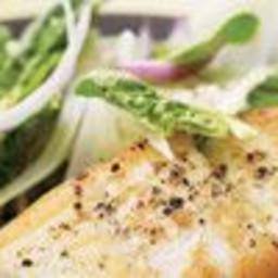 Sautéed Halibut with Shaved Fennel Salad