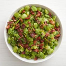 Sauteed Lima Beans with Bacon