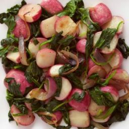 Sauteed Radishes with Spinach