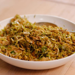 Sauteed shredded brussel sprout