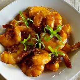 Sautéed shrimps with tamarind sauce