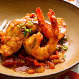 Sauteed Snapper and Shrimp with Creole Sauce