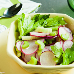 Sauteed Radishes and Celery