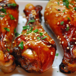 Savory and Sweet Sticky Crockpot Chicken Drumsticks