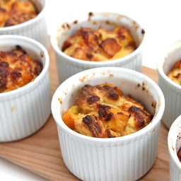 Savory bread puddings with sherry-roasted butternut squash