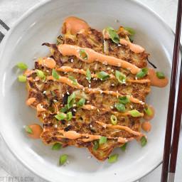 Savory Cabbage Pancakes (Okonomiyaki)
