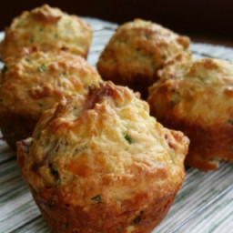 Savory Cheese Muffins With Bacon and Chives