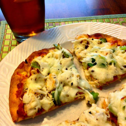 Savory Chicken and Cheese Naan Pizza