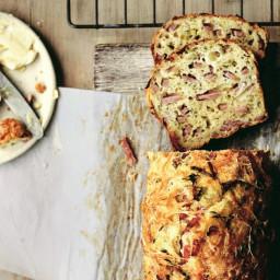 Savory Gruyère Bread With Ham