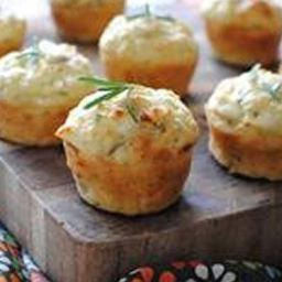 Savory Mini Muffins with Goat Cheese, Red Onion and Rosemary