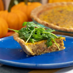 Savory Pumpkin Quiche with Caramelized Bacon and Onions