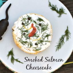 Savory Smoked Salmon Cheesecake Appetizer