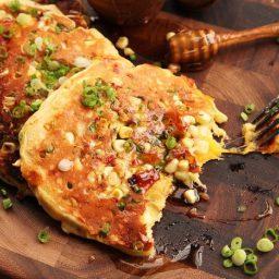 Savory Bacon-Cheddar Pancakes With Corn and Jalapeño