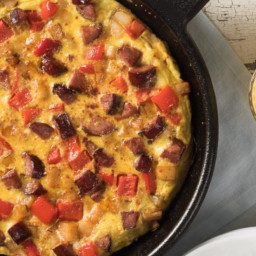 Savoury Potato and Chorizo Frittata