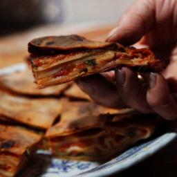 Scaccia Ragusana (Tomato and Cheese Pie)