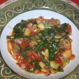 Scafata of Lima Beans and Escarole
