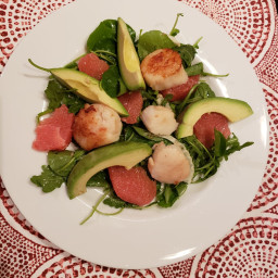 Scallop Salad With Grapefruit and Fennel